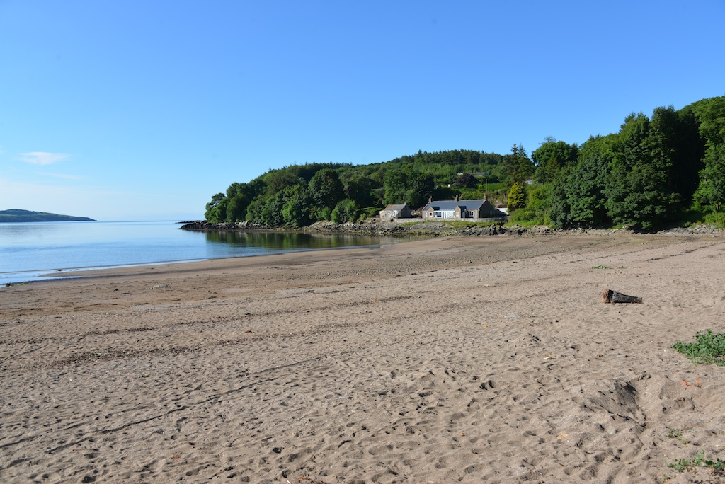 Burnfoot Cottage from the beach